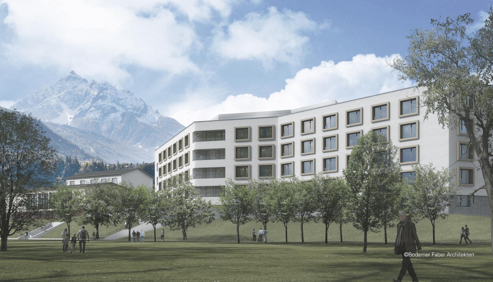 Pflegeheim pradl innsbruck dina4 architektur for Architektur innsbruck